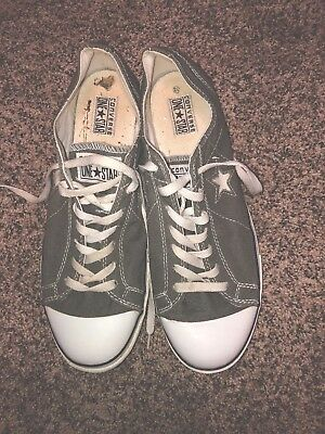 CONVERSE ONE STAR - Gray Canvas Low Top Sneaker Shoe Men's Size 12 US