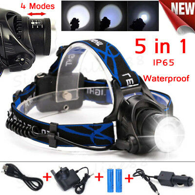 Super Brightness Cree LED Zoom Headlight Torch T6 Headlamp 18650 Head Light Lamp