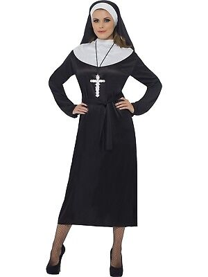 Religious Movie The Nun Costume Fancy Dress Ladies Horror Party Halloween