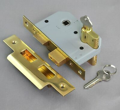 MORTICE DEAD LOCK-EURO CYLINDER-46mm-6 FINISH-exterior entrance door-security