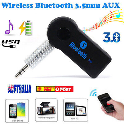 Wireless Bluetooth 3.5mm AUX Audio Stereo Music Home Car Receiver Audio Adapter