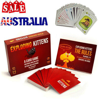 Hot Exploding Kittens Board Party Card Game - ORIGINAL Edition - Aussie Version