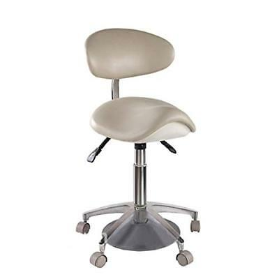 Dental Microfiber Leather Standard Foot-controlled Saddle Chair Doctor's Stool