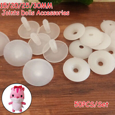 50sets Plastic Animal Joints for Dolls Soft Toys/Teddy Bear Making DIY Crafts Vi