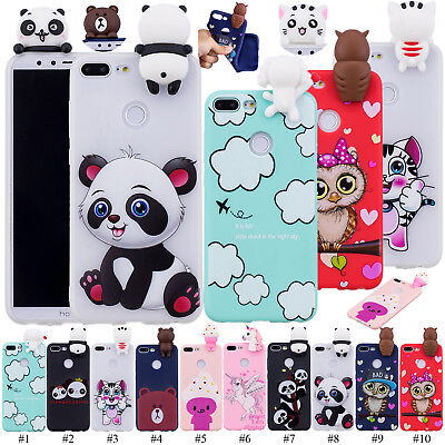 3D Animal Case Soft Rubber Gel Phone Cover For Huawei Honor 7A P20 Lite P Smart+