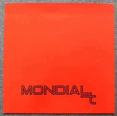 FERRARI MONDIAL T LF Car Sales Brochure Dec 1989 #562/89