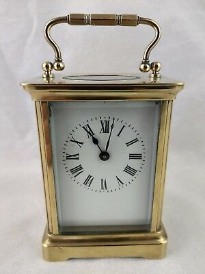 Antique French Brass 8 Day Carriage Clock By ACC C1900/AD MOUGIN
