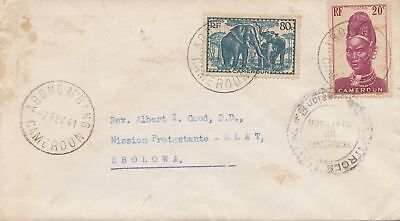 French colonies: Cameroun: Abong Mbang 1941 to Ebolona-Mission Protestante