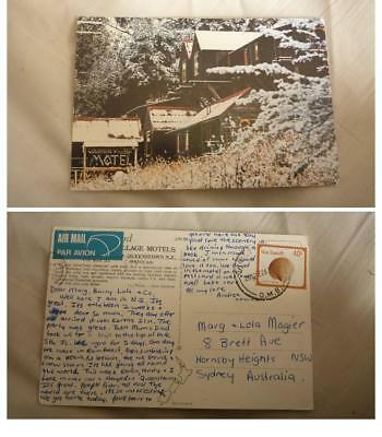 Old New Zealand Postcard, Queenstown, Colonial Village Motel