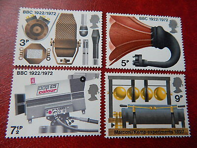 gb stamps s g 909-912. Broadcasting Anniversaries.
