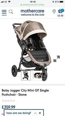 Baby Jogger City Mini GT Single Stroller And Foot Muff