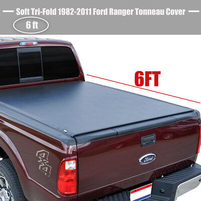 Soft Tri-Fold Tonneau Cover Fit 1982-2011 Ford Ranger Truck 6ft Bed