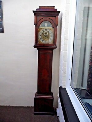EARLY 1700's ROCKING SHIP AUTOMATION LONGCASE GRANDFATHER CLOCK MAHOGANY GOSPORT