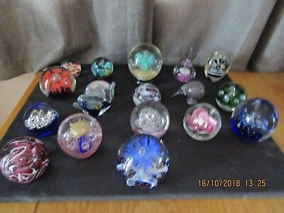 Job Lot of 18 x Vintage Paperweights Mixed designs, styles & sizes etc