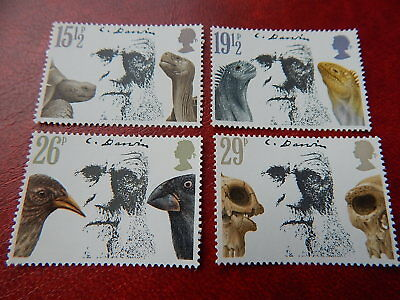 gb stamps s g 1175-1178. Death Centenary of Charles Darwin.