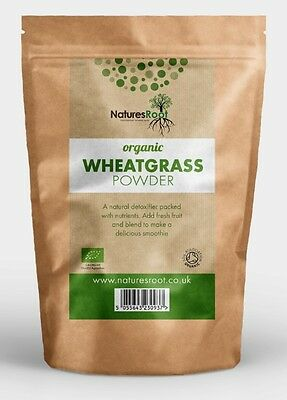 Natures Root Organic Wheatgrass Powder - 125g | 250g | 500g | 1kg
