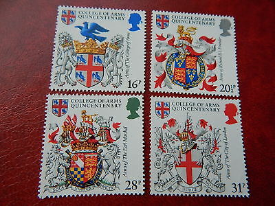 gb stamps s g 1236-1239. 500th.Anniversary of College of Arms.