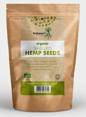 Natures Root Organic Hemps Seeds De Shelled - 50g | 125g | 250g | 500g | 1kg