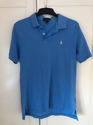 Ralph Lauren Blue Polo Top Boys Age 14 To 16 Large