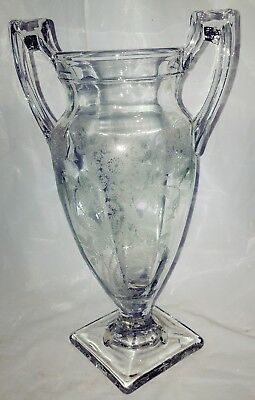 Antique Victorian Era Glass EAPG  Loving Cup
