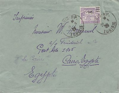 French colonies Tunisie 1929 Tunis to Cairo