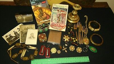 BULK VINTAGE Cabinet Stash Curios Wares Jewellery Collectable LOT