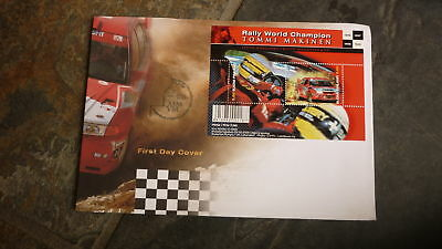 2000 Finland Tommi Makinen Rally World Champion Stamp Issue Fdc, Minisheet