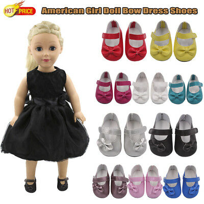 Glitter Doll Shoes Beautiful Bow Dress Shoes For 18'' American Girl Doll Shoes