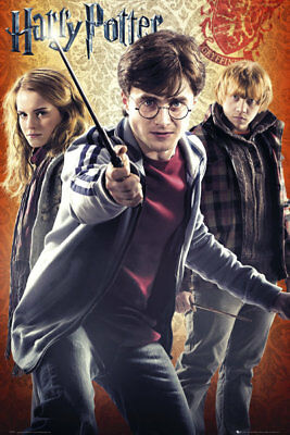 Harry Potter 7 Trio Wizarding World Maxi Poster Print 61x91.5cm | 24x36 inches