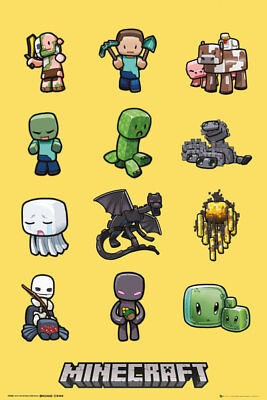 Minecraft Characters Gaming Maxi Poster Print 61x91.5cm | 24x36 inches