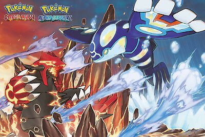 Pokemon Groudon and Kyogre Gaming Anime Maxi Poster Print 61x91.5cm | 24x36 in