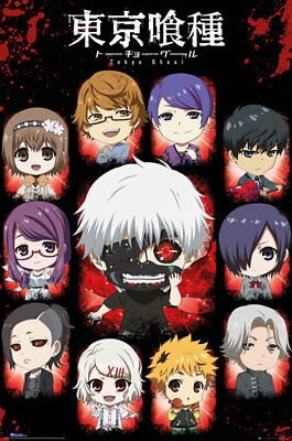 Tokyo Ghoul Chibi Characters Anime Maxi Poster Print 61x91.5cm | 24x36 inches