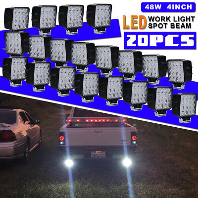 20Pcs 48W Led Work Light Bar Pods Spot Offroad Lamp For ATV JEEP Trucks Cube UTE