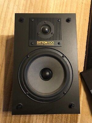 Vintage Celestion Ditton 100 Series II Bookshelf Speakers Set Of 2