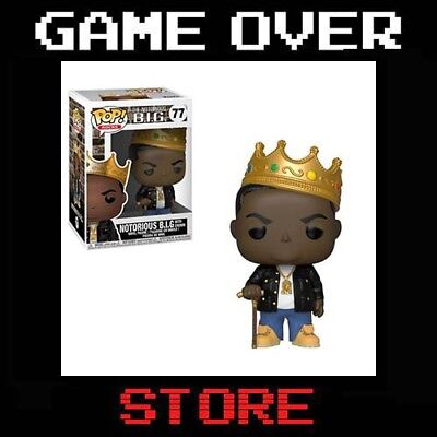 Notorious B.I.G. FUNKO POP Rocks Vinyl Figure with Crown PREORDER ITALIA NUOVO