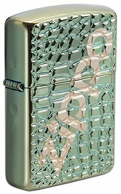 Zippo Unisex's Alligator Regular Windproof Lighter, Armor Chameleon, One Size