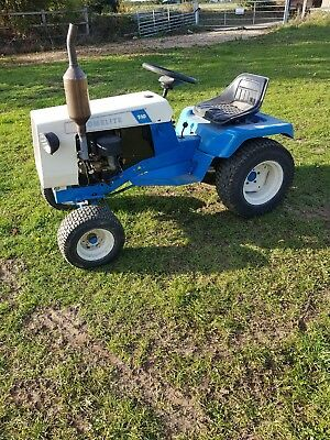 Homelite T10 ride on petrol garden tractor with Briggs and Stratton engine.