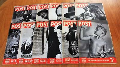 Job Lot 12x Vintage Picture Post Magazines March - October 1940 WW2 ALL SHOWN
