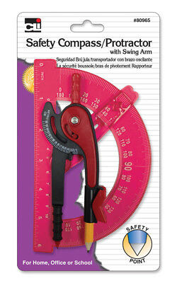"""Charles Leonard 80965 Safety Compass With 6"""" Swing Arm Protractor"""