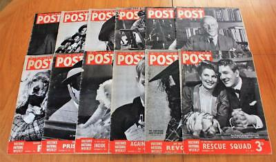 Job Lot 12x Vintage Picture Post Magazines 1940 & 1941 WW2 ALL SHOWN