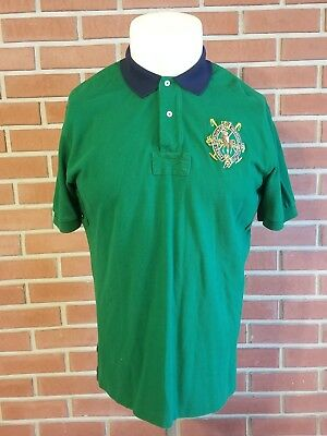 Polo by Ralph Lauren Short Sleeve Rugby Polo Shirt Mens Large NY Finest Quality