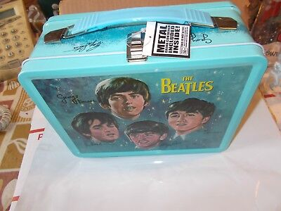 The  Beatles  Lunchbox+   Thermos   Brand  New   Sealed    Rare Unauthorized