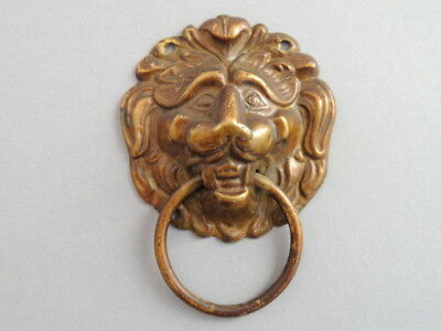 Vintage Antique Art  Small Furniture Door Cabinet Knob Handle Copper Brass Lion
