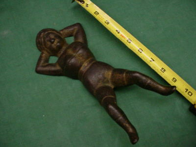 "Antique "" Naughty Nellie "" Cast Iron Boot Jack"