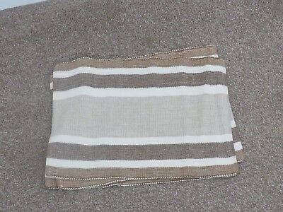 3 X table place mats cloth beige and brown