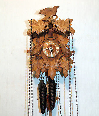 Old Cuckoo Clock Wall clock Chime Cuckoo Black Forest made in Germany