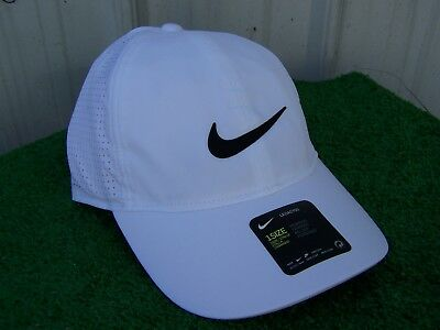 Nike Golf Women s White Aerobill Adjustable Light Perforated Golf Hat Cap  NEW 3365385ce63d