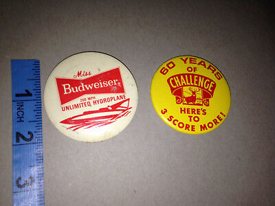 1970S MISS Budweiser Hydroplane Regatta Boat Racing Boating UNLIMITED BUTTON PIN