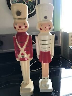 Vintage Soldier Boy And Girl Rare Union Christmas Blow Molds Induction Molds