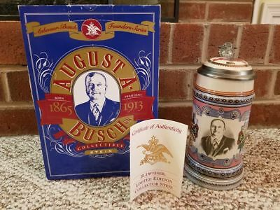 Anheuser Busch Founders Series AUGUST A BUSCH Limited Edition Beer Stein